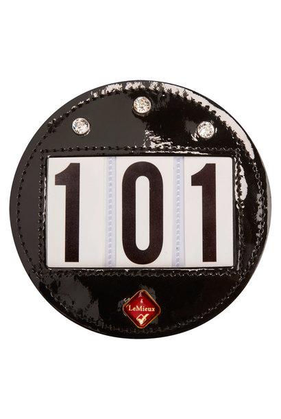 Patent Diamante Bridle Number Holder