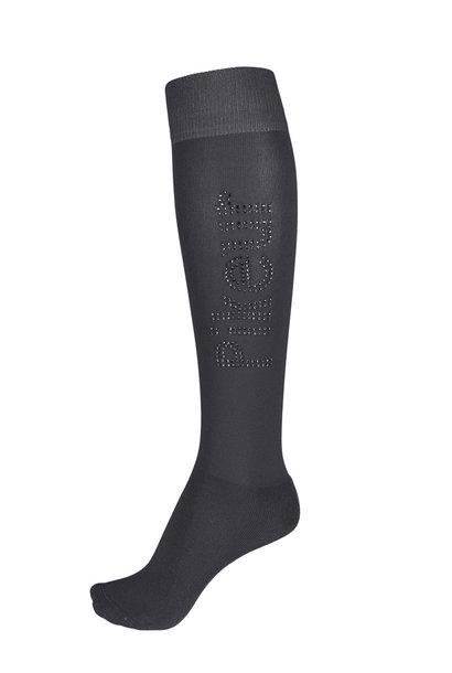 Strass Logo Long Socks