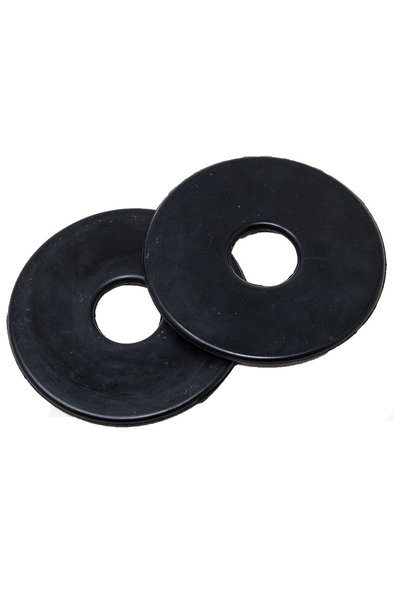 Rubber Cheek Guards Black