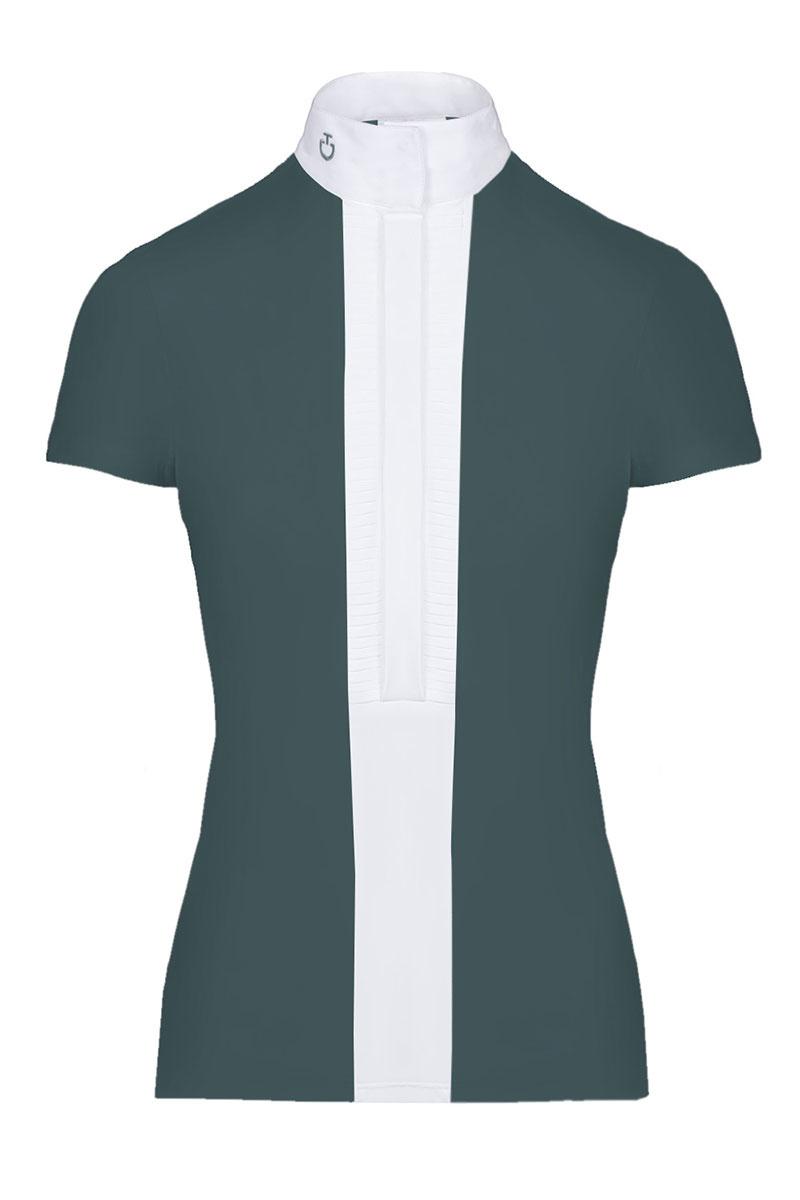 Women's Pleated Jersey Show Shirt-1