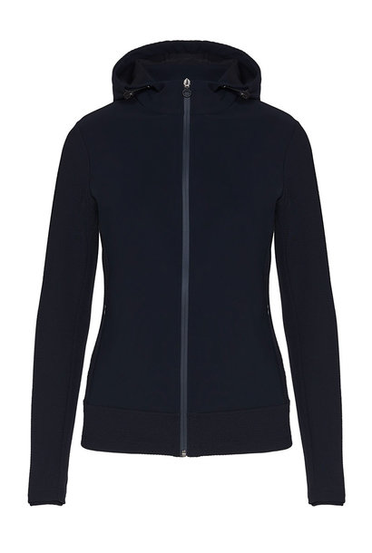 Women's Embossed Jersey Hooded Jacket