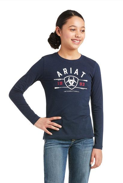 Girl's Logo Long Sleeve T-Shirt