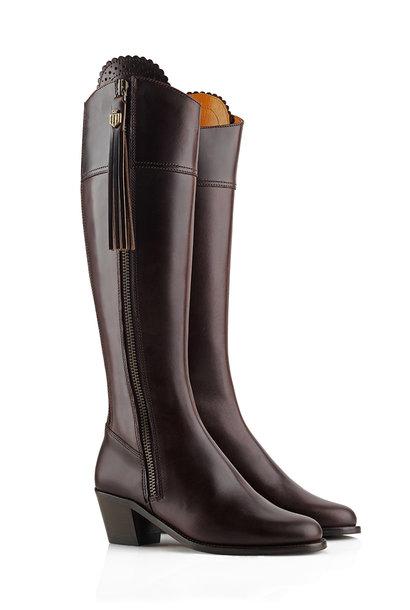 Women's Heeled Leather Regina Boots