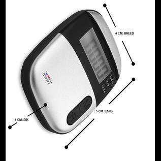 ®SMC Products STAPPENTELLER (Pedometer) voor aan uw broek/riem handig formaat - DD-31872