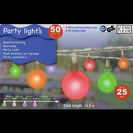 ®SMC Products 50 Gekleurde LED lampjes voor feest- en  tuinverlichting 9.8 mtr. + 5 mtr. toevoerlijn - DD-1440