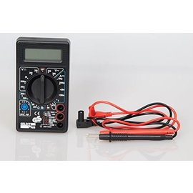®SMC Products Digitale Multimeter DT-830B, Cat 1 - Max. 240V - inclusief 9V Batterij - Spanningsmeter - Meetkabels - DD-1251