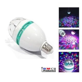 ®SMC Products Discolamp met E27 fitting, 30 roterende kleuren 3 Watt LED. - DD-745309