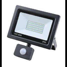 ®SMC Products LED Buitenverliching, Tuinlamp, Beveiligingslamp, Bouwlamp | 50W met sensor | Vervangt 450W | 6400K – Naturel wit