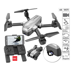 ®SMC Products Drone, GPS quadrocopter met 4K camera, WiFi, Follow-Me, gyroscoop - DD-232323