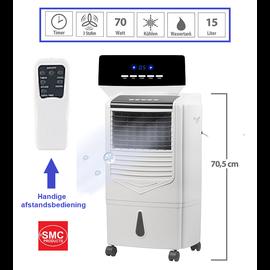 ®SMC Products Luchtkoeler en reiniger zonder slang l  Zeer geschikt voor mensen met last van Hooikoorts, Astma en COPD.