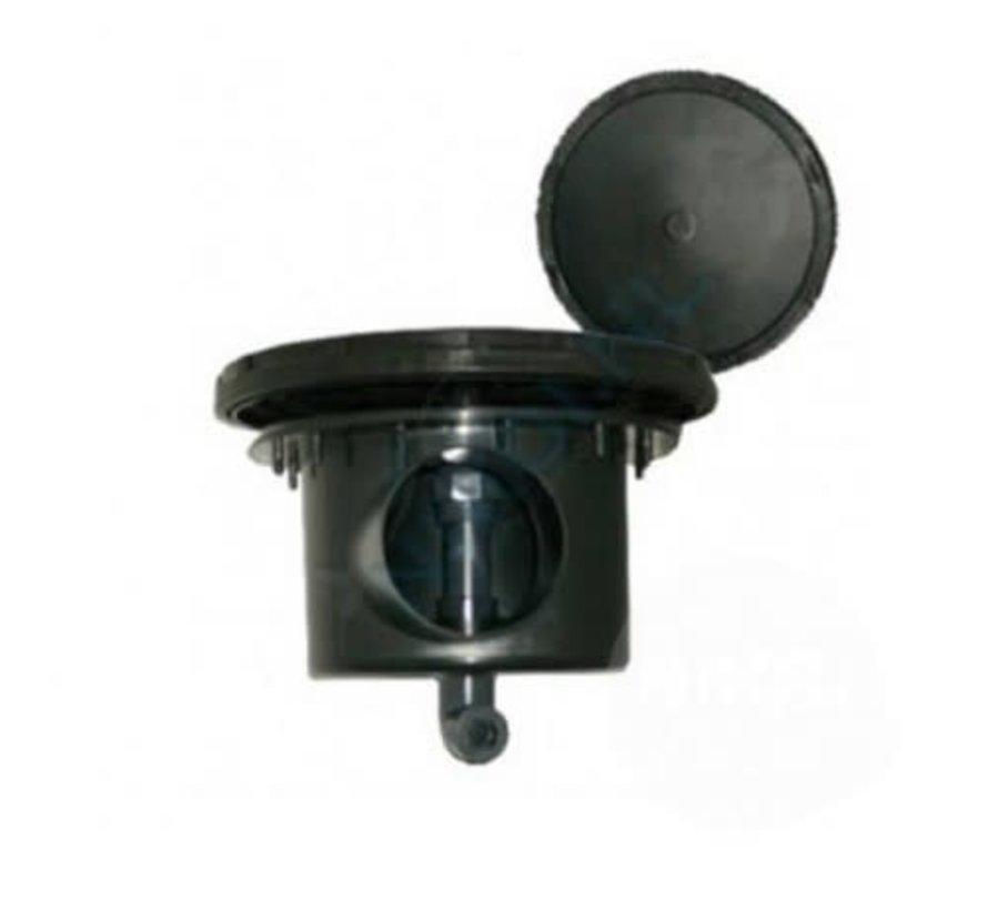 Professionele beluchte bodemdrain 110mm met VDL 32mm lijm aansluiting