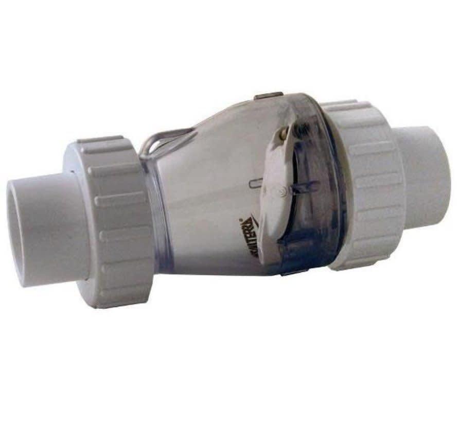 Valterra Transparante terugslagklep met 3/3 koppeling 50mm zonder veer