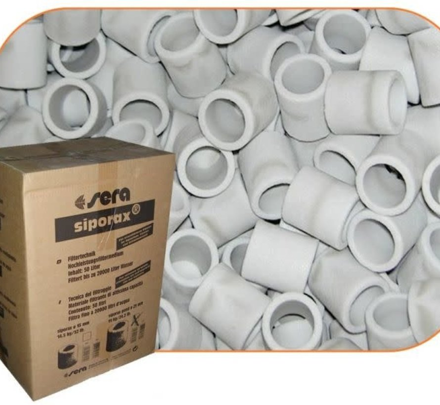 Sera Siporax 25 mm 50 Liter filtermateriaal