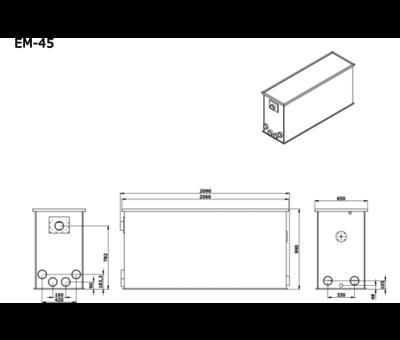 AEM AEM EM-45 Combi Totaalfilter