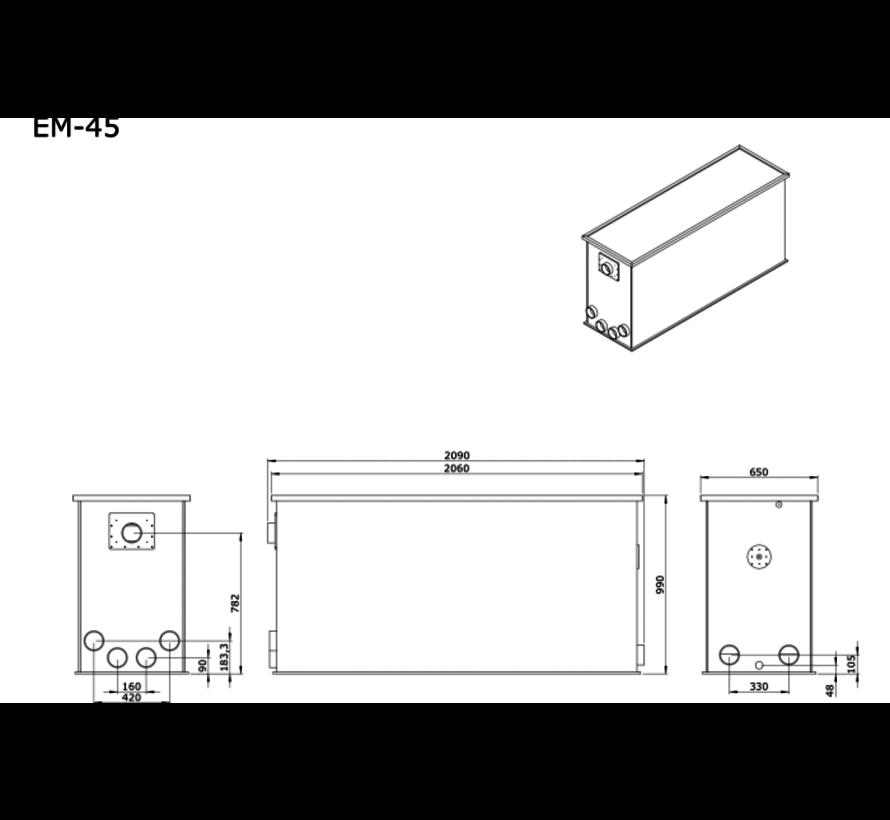 AEM EM-45 Combi Totaalfilter