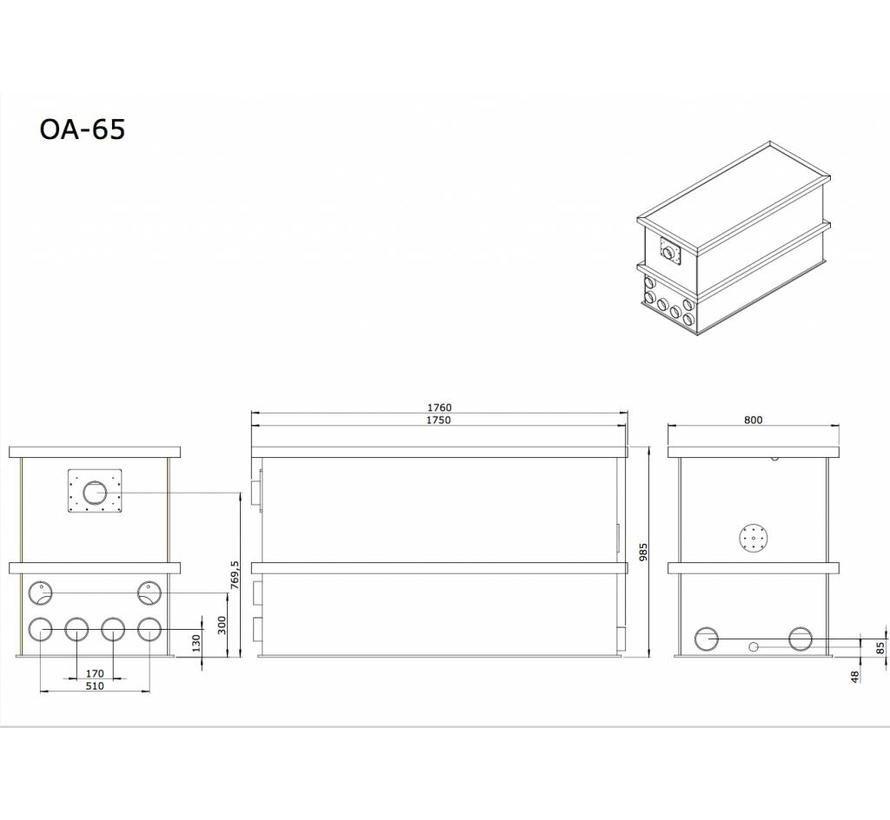 AEM OA-65 Combi/Totaalfilter