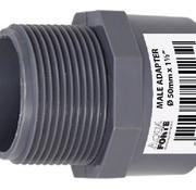 "Aquaforte PVC druk Puntstuk met buitendraad 50 mm x 1½"" Econo Line 10 ATO"