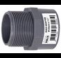 PVC druk Puntstuk met buitendraad 63 mm x 2″ Econo Line 10 ATO