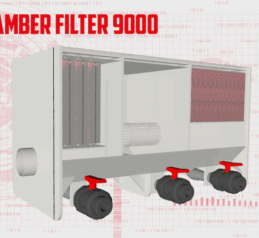 AquaKing Red Label 3 Kamer Filter Small 9000