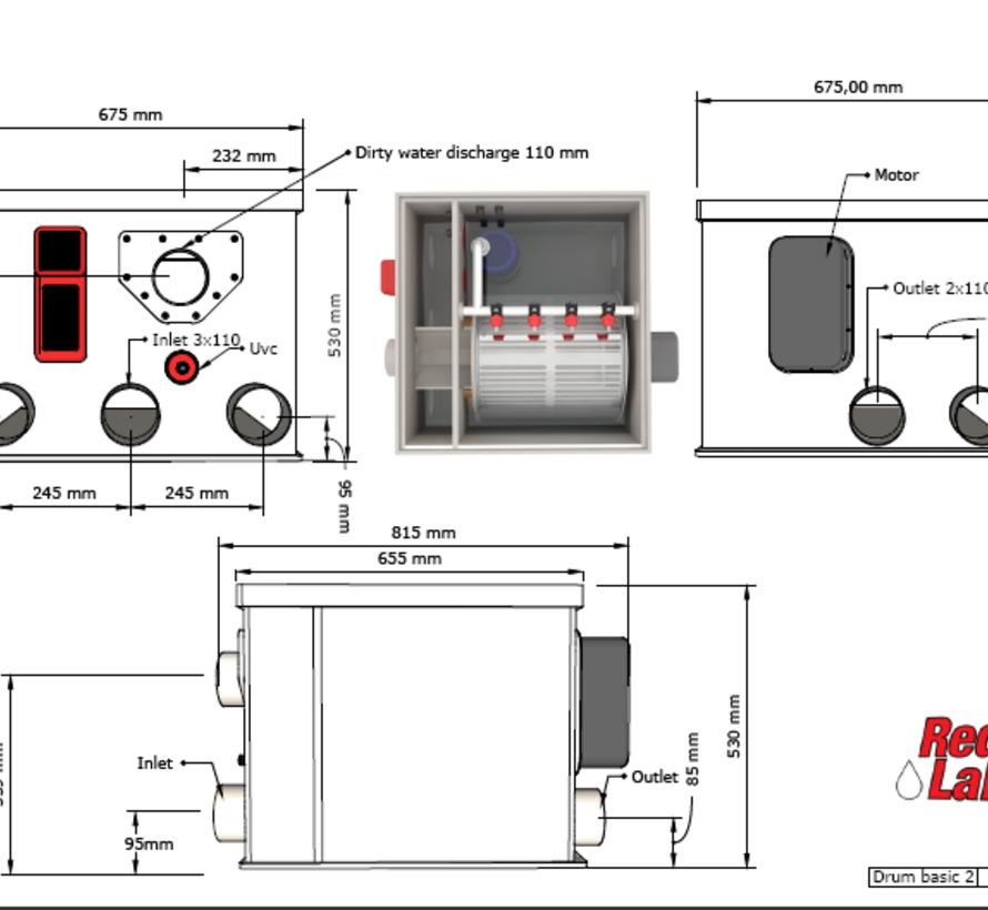 AquaKing Red Label Drum Filter 25 Basic 2