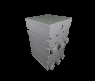 Air-Aqua SuperShower 2-traps incl. 100 ltr. SuperBio marmer wit