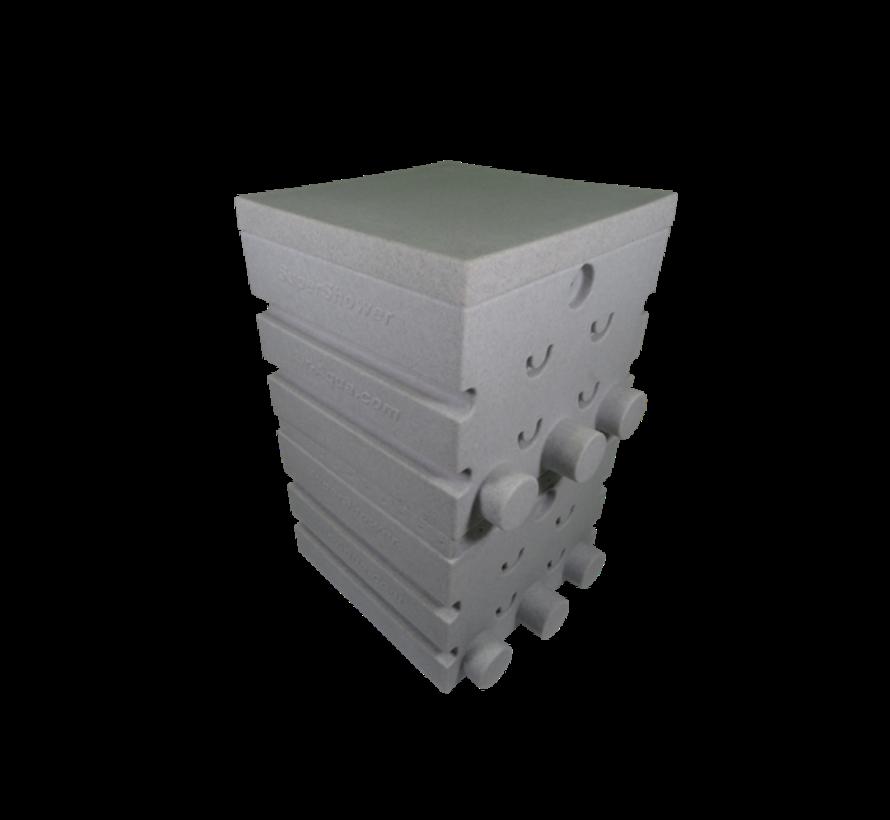 SuperShower 2-traps incl. 100 ltr. SuperBio marmer wit