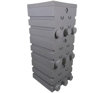 Air-Aqua SuperShower 3-traps incl. 150 liter Superbio Marmer wit