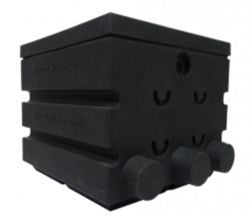 Air-Aqua SuperShower 1-traps incl. 50 ltr SuperBio marmer zwart