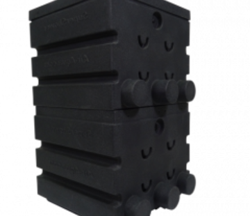 Air-Aqua SuperShower 2-traps incl. 100 ltr. SuperBio marmer zwart