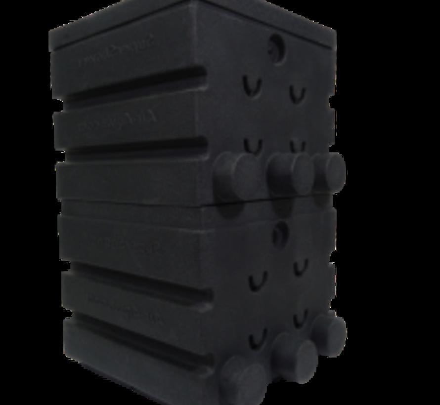 SuperShower 2-traps incl. 100 ltr. SuperBio marmer zwart