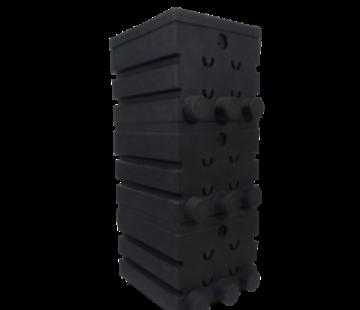 Air-Aqua SuperShower 3-traps incl. 150 liter Superbio Marmer zwart