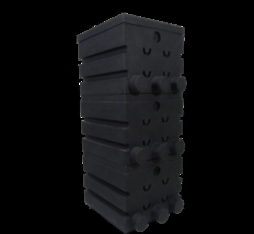 SuperShower 3-traps incl. 150 liter Superbio Marmer zwart