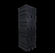Air-Aqua SuperShower 4-traps incl. 200 litr. SuperBio Marmer zwart