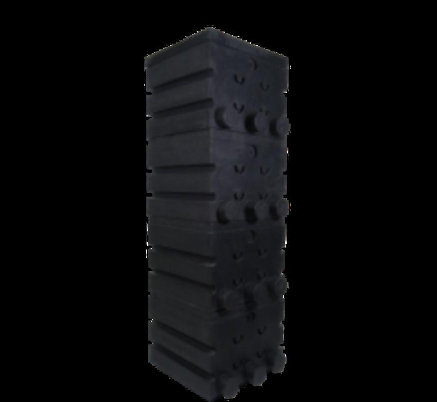 SuperShower 4-traps incl. 200 litr. SuperBio Marmer zwart