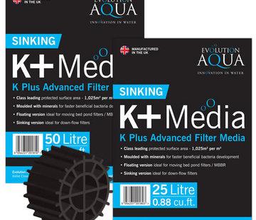Evolution Aqua Evolution Aqua K+ (plus) Filter Media zwart 25 ltr zinkend