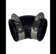 Air-Aqua Flexibele bocht (45°) 40mm