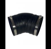 Air-Aqua Flexibele bocht (45°) 110mm