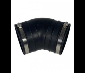 Air-Aqua Flexibele bocht (45°) 125mm