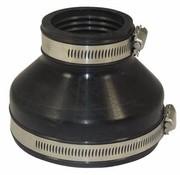 Air-Aqua Flexibele EPDM verloopsok 110x63mm