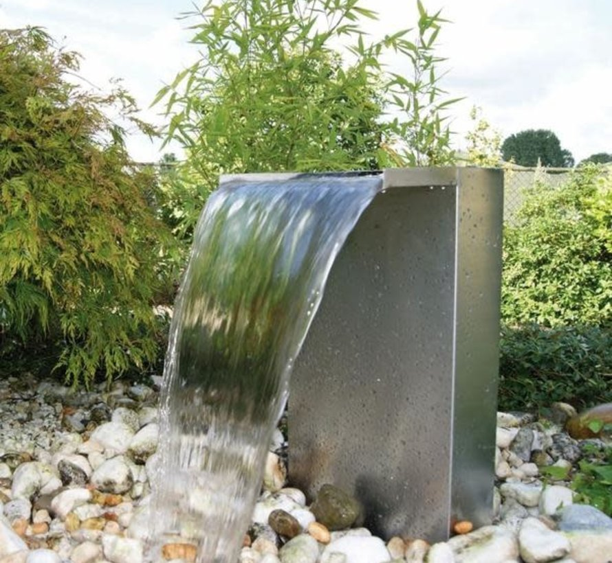 Ubbink Waterval set Venezia roestvrij staal met led verlichting