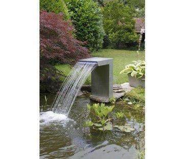 Ubbink Ubbink Rechte waterval roestvrij staal met led verlichting