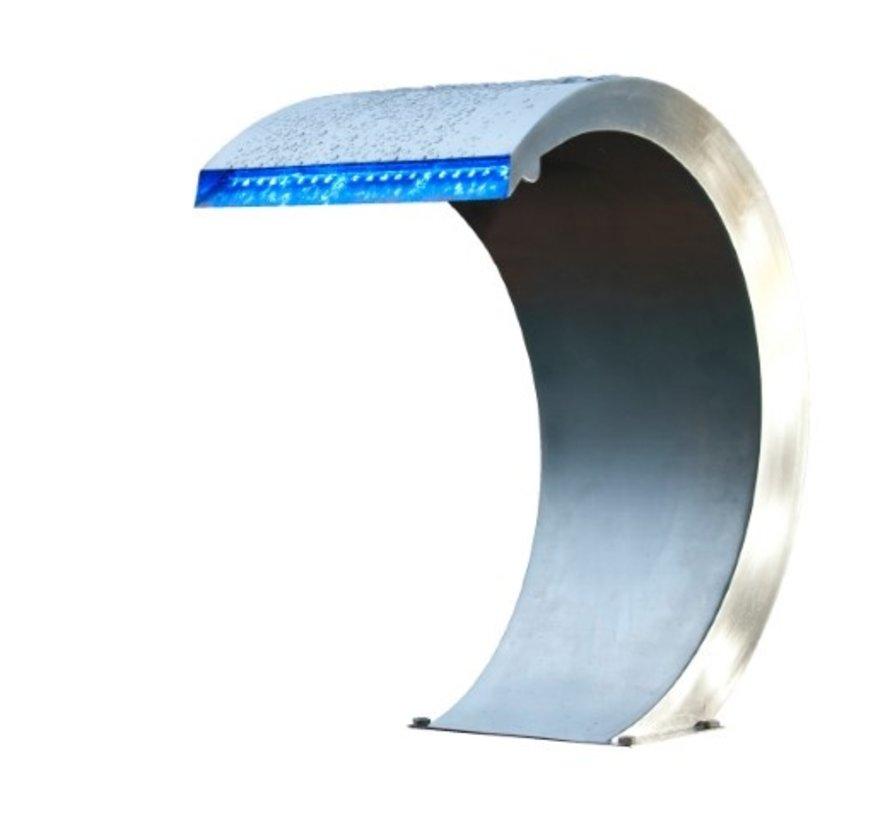 Ubbink Mamba waterval roestvrij staal met LED verlichting