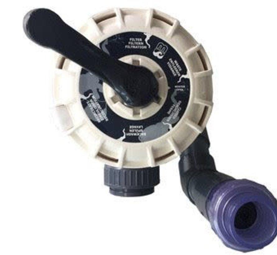 AquaForte 6-wegklep Econobead filter EB60/100/140(63mm)