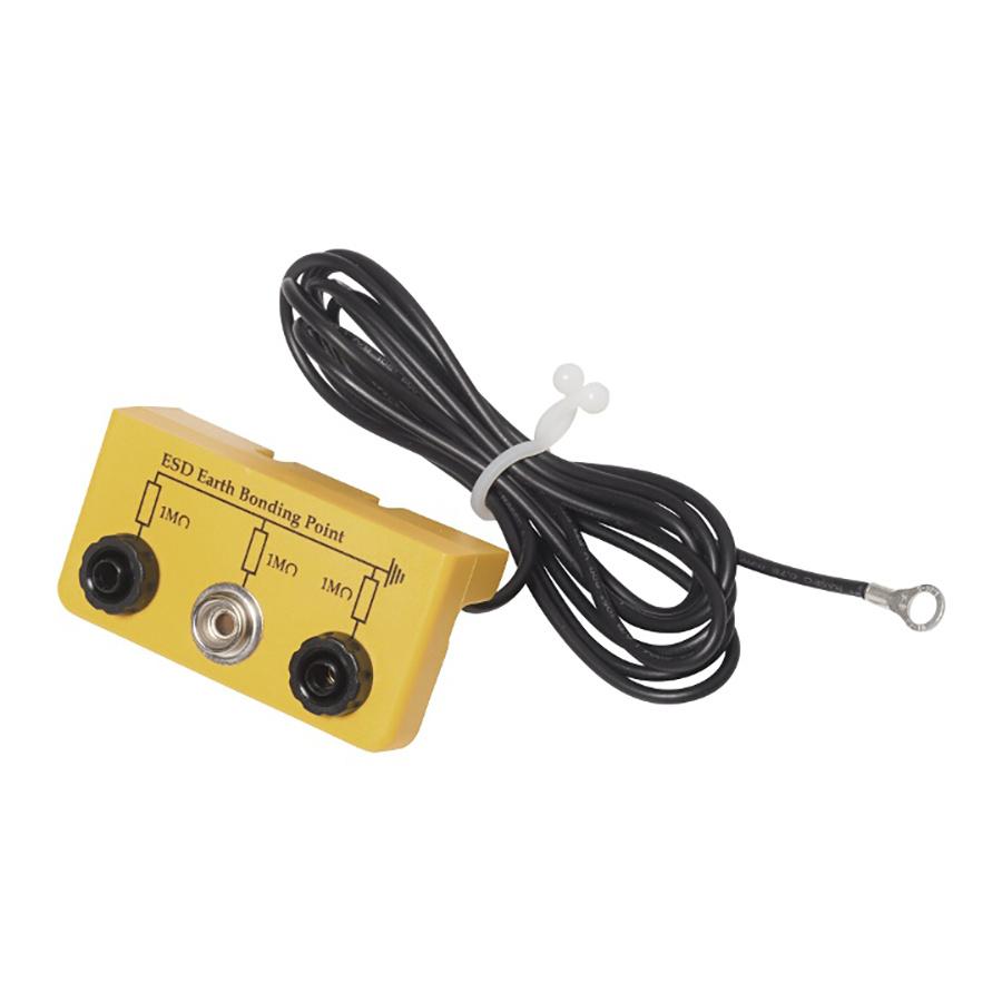Aardverbindingsdoos / 2x4mm Banaanplug / 1 X 10mm drukknop