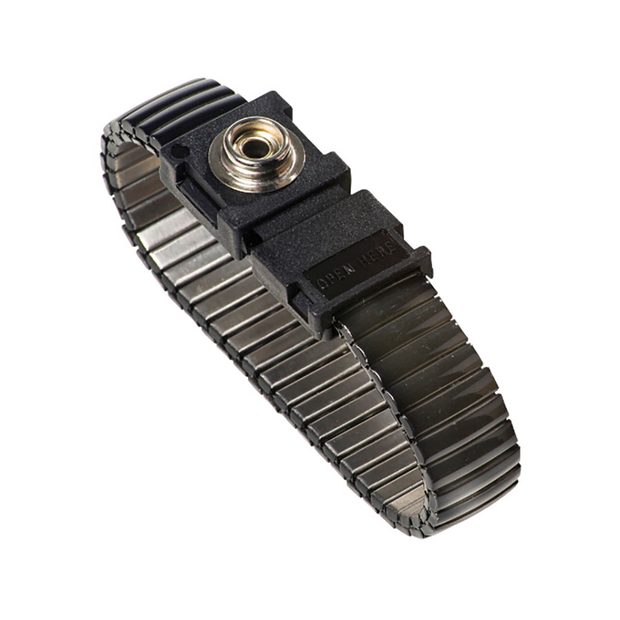 Metalen Verstelbare Cleanroom Polsband 10mm Drukknop