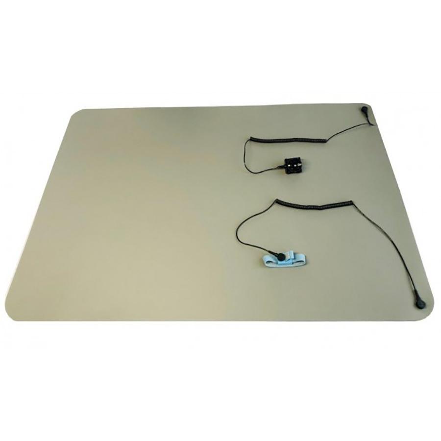 Werkplekset Mat Grijs 61x90cm / Polsband Stof