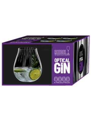 Vaderdag geschenken 1 x Gin gillis en 4 Riedel Crystal optical O gin glazen