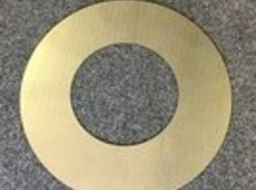 Rosette , RVS , voor dubbelwandige pijp , 210mm