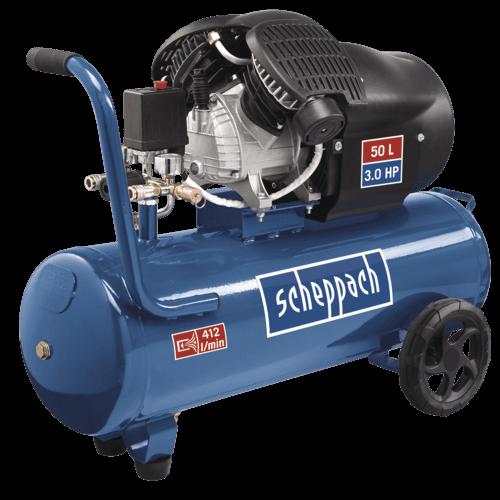 Scheppach Dubbele Cilinder Compressor HC53DC - 230V | 2200W | 50L | 10bar