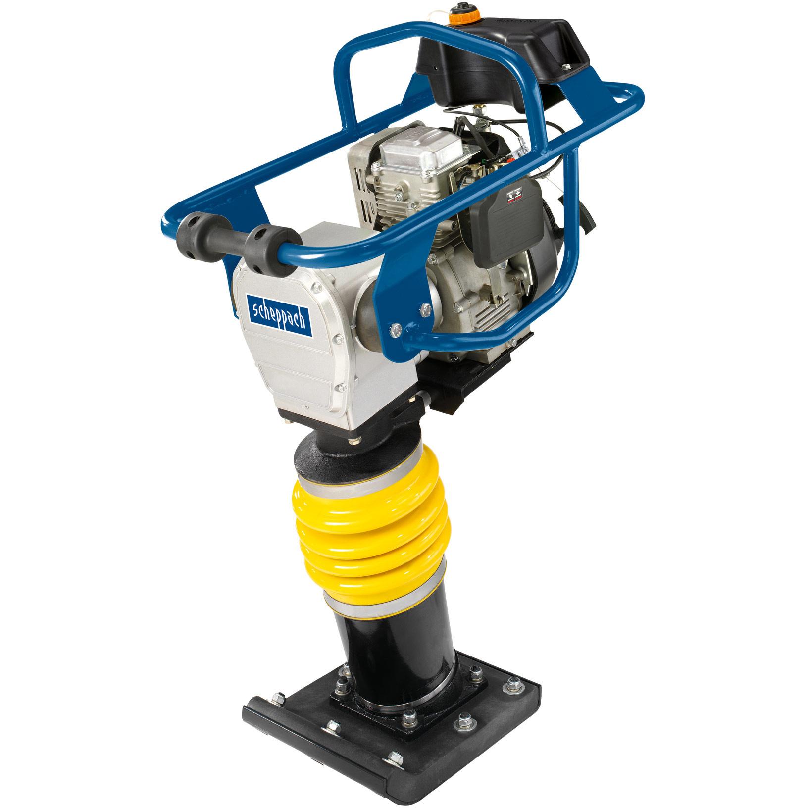 Scheppach Benzine vibratie stamper - Trilplaat  VS1000? 6,5pk | 10.000N | 345 x 285 mm